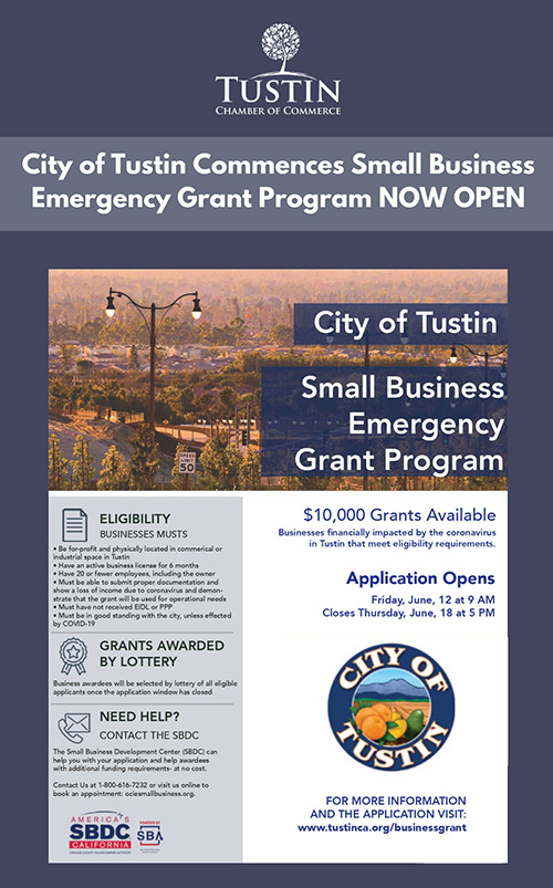 City of Tustin Small Business Grant Program